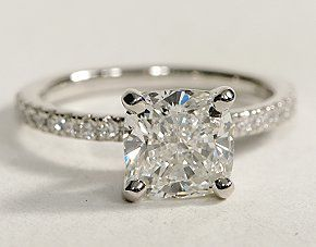 the perfect wedding ring. minus the diamonds on the band of course