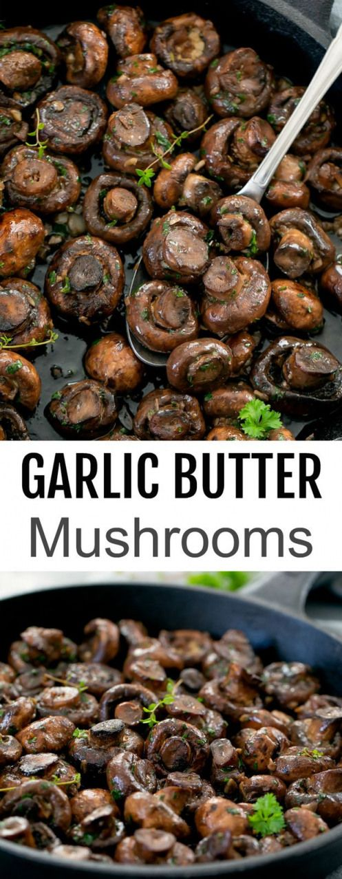 Mushrooms sautéed in butter with garlic. A super easy accompaniment dish that works well with …   – Low Carb Recipes