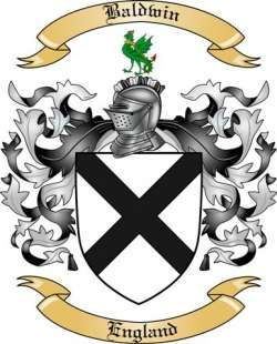 Baldwin Family Coat of Arms from England