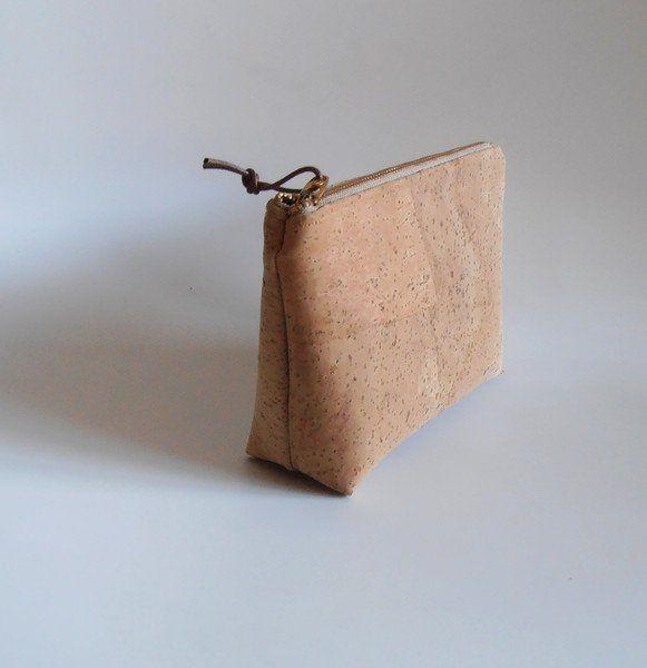 Make-up tassen - Etui make-up/pennen tas kurk-leer goud chiq - Een uniek product…