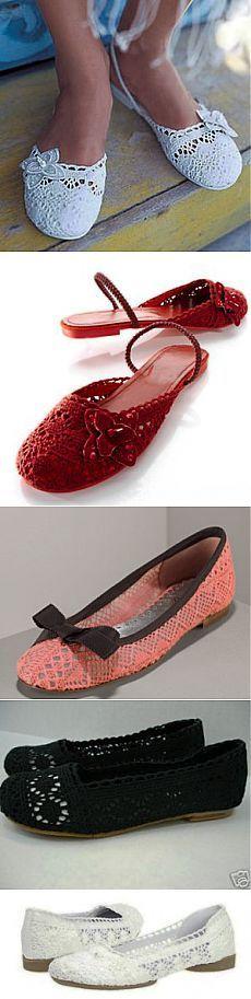 Вязаные туфли, босоножки