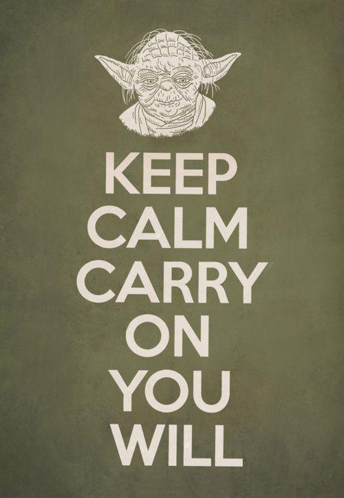 Carry on you will - #Yoda #StarWarsTerry Fans, Art Prints, Funny, Yoda, Keepcalm, Stars Wars, Keep Calm, Calm Carrie, Starwars