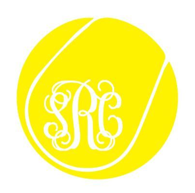 Personalized Tennis Ball Vinyl Decal Sticker made to order. These stickers are perfect for your car window, laptop or anything else that needs
