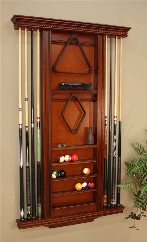 American Heritage Ventura Wall Billiards Accessory Rack with 8 Cue Slots & Reviews | ShopLadder