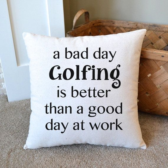 Canvas Pillow, Gift for Golfer, Father's Day, Mother's Day,  Gift for Dad, Golf Decor, Golfing, Men's Gift, Golf Gift, Retirement, Golfer