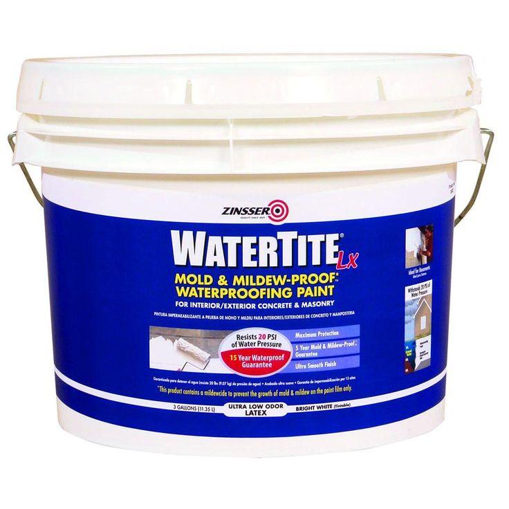 Zinsser 3 gal. WaterTite LX Low VOC Mold and MildewProof