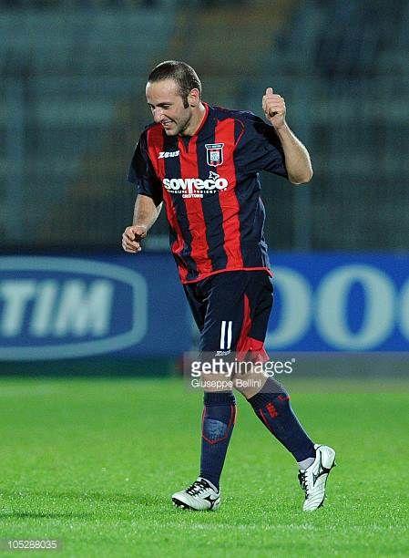 Aniello Cutolo of Crotone celebrates after scoring the 21 goal during the Serie B match between Ascoli Calcio and FC Crotone at Stadio Cino e Lillo...