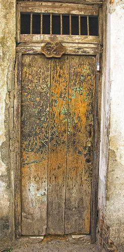 Weathered door Havana, Cuba