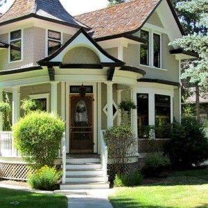 Neutral victorian exterior house colors elegant for Elegant neutral paint colors