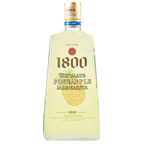 Created with 100% Agave 1800 Silver Tequila and perfectly blended with the flavor of Fresh Pineapples for a refreshing crisp bite and tangy finish.  The 1800 Ultimate RTD Margarita is one of the fastest growing ready-to-drink brands on the market, and is one of the few 100% agave tequila-based RTD's. 1800 Silver Tequila is already present in the 19.9 proof mix, taking away the hassle of measuring and mixing, and making the ease of portability the perfect choice for party goers.