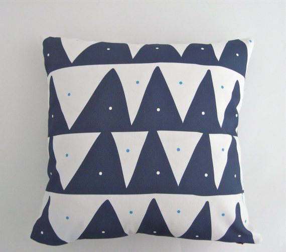 Scandinavian inspired pillow cover in Nautical by TroskoDesign