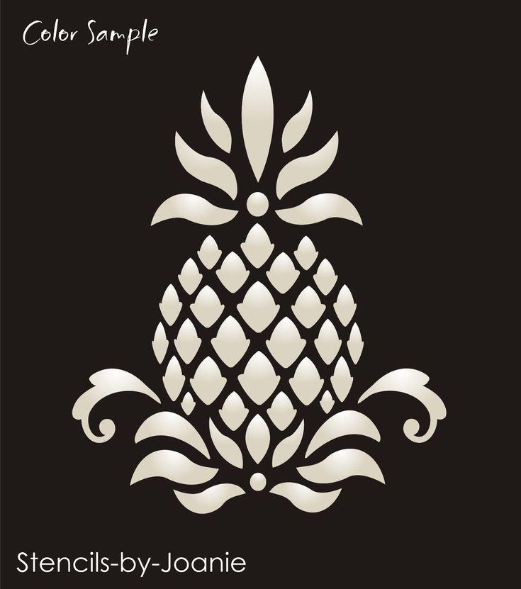 Primitive Pineapple Stencil Colonial Folk Art Historic Family Welcome Home Decor | eBay
