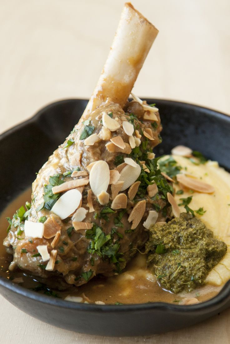 Anna Hansen pairs lamb with a zingy Persian pesto, made from dried Persian limes and parsley in this sumptuous dish. This lamb shank with polenta recipe would make a marvellous dinner party dish for those who like to experiment with diverse flavours.