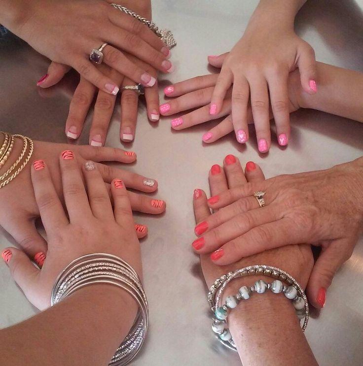 Pink corral nails