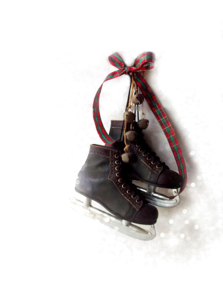 Vintage Jack Riley Ice Skates. Signature Olympic Series. Vintage 60s Hockey Skates.  Size 6 BOYS. Christmas Lodge Cabin Farmhouse Decor ! by 3vintagehearts on Etsy
