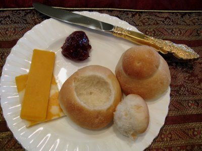 Faspa - Sunday afternoon/evening meal - zwiebach, jam, cheese.