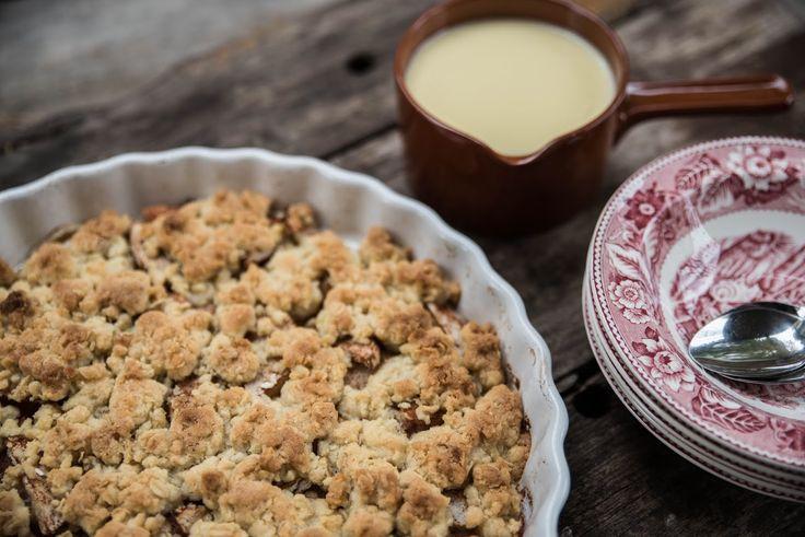 Foto: Theres Lundén   Efter många års frosseri i äppelpajer så hittade vi äntligen ett grundrecept som vi modifierat och är 100% nöjda med...
