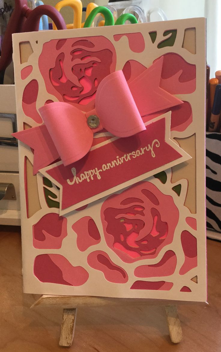 Anniversary card made with anna griffin lovely layered