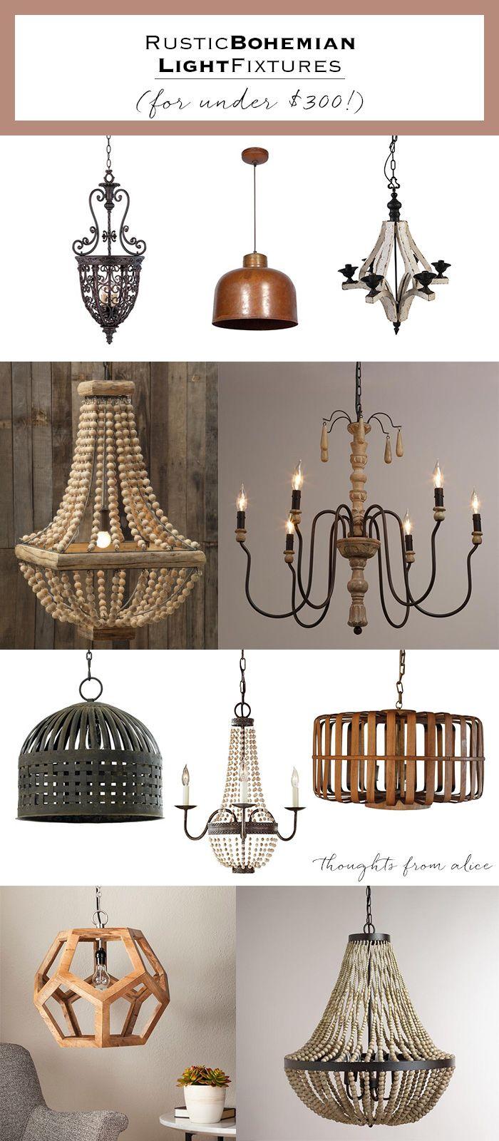 Rustic Bohemian Light Fixtures {under $300!}