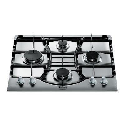 Hotpoint-Ariston EHP640(X)/HA Plaques de Cuisson Gaz: Table de cuisson – Largeur 60 cm – 4 brûleurs gaz – Sécurité gaz a chaque brûleur –…