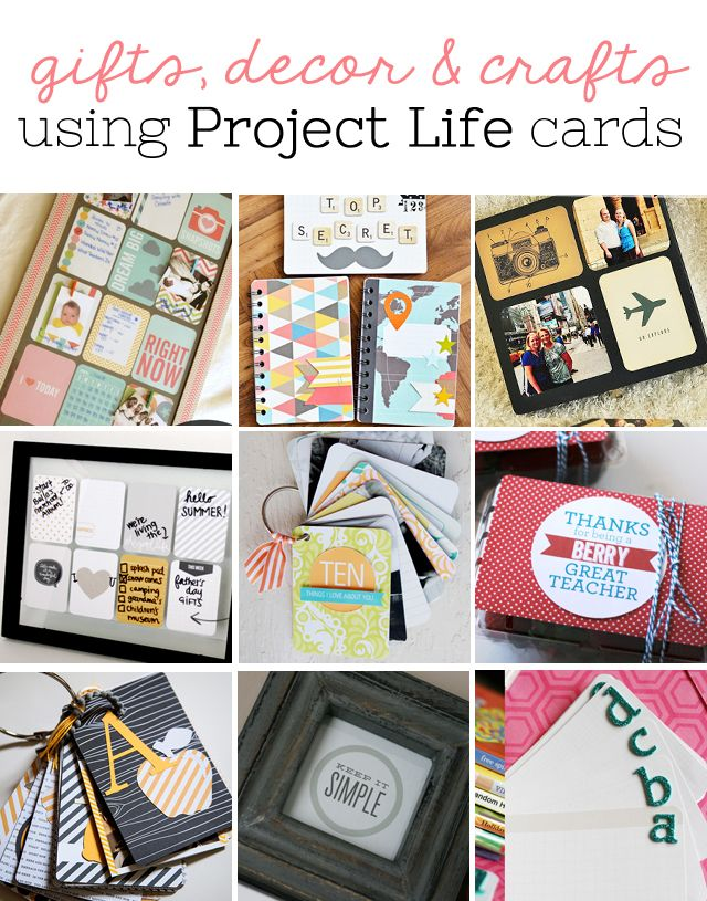 My Sister's Suitcase: Saturday Share #3 - 10 Ideas for Using Project Life Cards