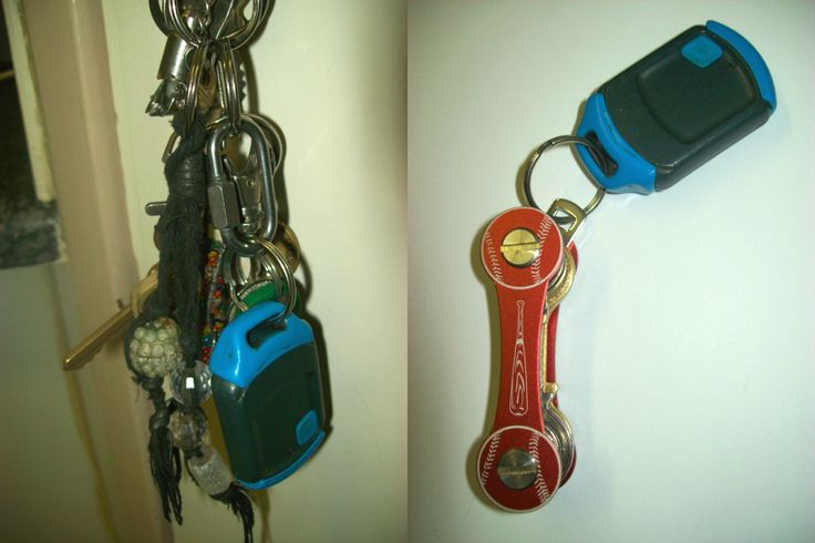 Do you prefer your keys bulky and noisy or compact and quiet? MAJOR transformation with the HandyKey for baseball fans.