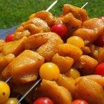 Brochettes de poulet epicées
