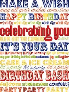 free Birthday printable - 8x10 or 5x7