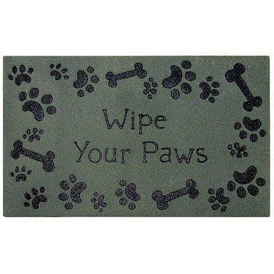 """Mohawk Home Wipe Your Paws Recycled Rubber Doormat - 18x30"""" by Mohawk Home. $14.61. Puppy Bones. Solid Flock. Animal. 18""""x30"""". Theme. In 2009, Mohawk Home diverted over 18 million pounds of rubber tires, one of the largest and most hazardous types of post consumer wastes, from landfills and brought them to homes as designer doormats. Our recycled rubber doormats have a high definition decorative, top surface design made of a flock and heat transfer. These durable ma..."""