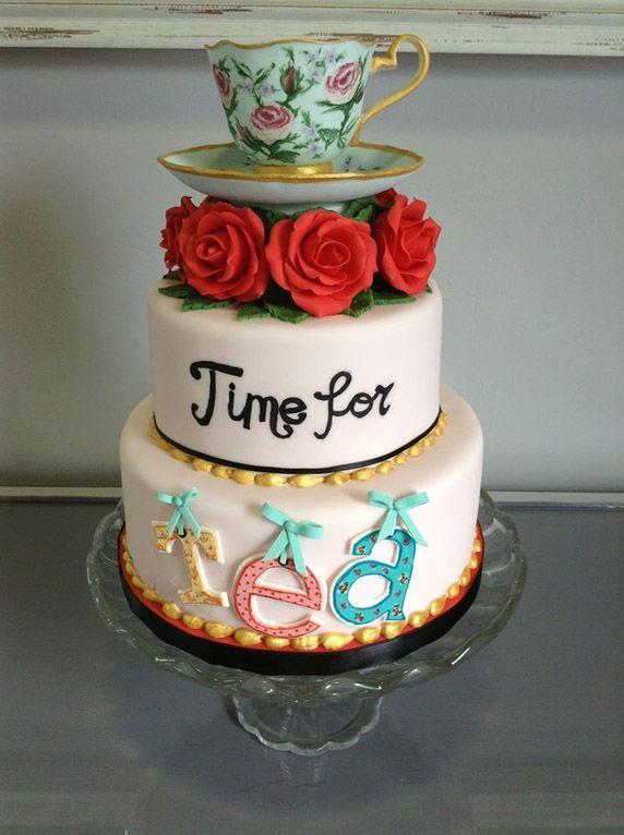 Beautiful Tea Time Layered Cake Picture