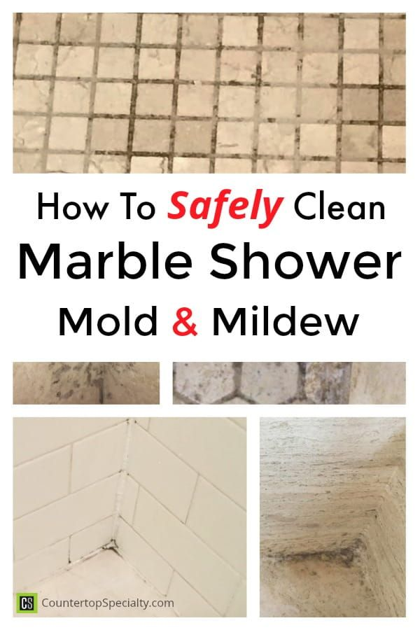 How To Clean Marble Shower Tile Mold Mildew Collage Photos Of Mold On Shower Floors Marble Showers Cleaning Marble Marble Shower Tile