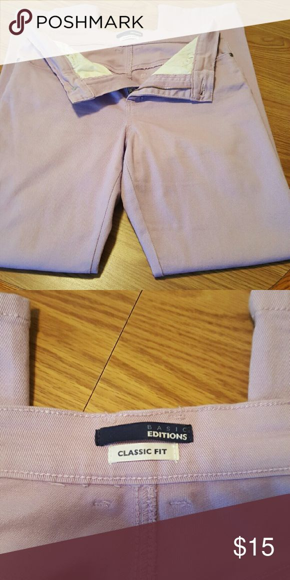 Lavender Jeans Worn once/ Cotton/Spandex Basic Edition  Jeans Straight Leg