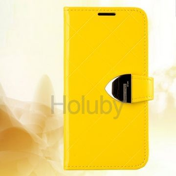 Flower Show Princess Series Wallet Style Magnetic Flip Stand PC+PU Leather Case for Miui Mi2 2s (Yellow)