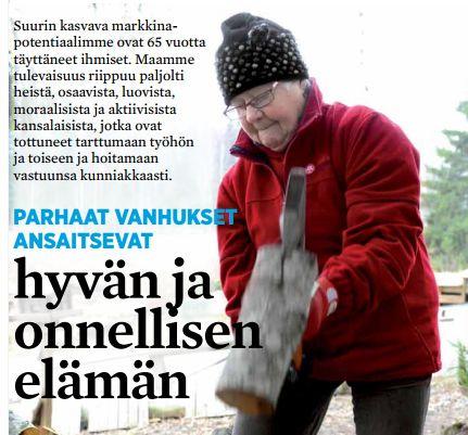 Vanusten hyvää ja onnellista elämää Hyvän Elämän Taloissa. http://files.kotisivukone.com/senioriliike.palvelee.fi/seniori_01_2014_lores.pdf