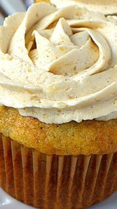Banana Cupcakes with Brown Sugar Frosting ~ light, moist banana cupcakes are topped with THE BEST brown sugar frosting. Best. Cupcakes. Ever.