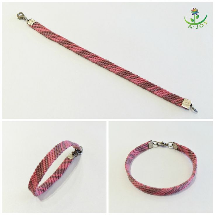 Friendship Bracelet FB00025 (Strings : 8, Colours : 2, Rows : 12)