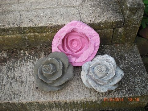 Beton giessen - DIY - Eine große Rose und dazu die Form anfertigen - YouTube