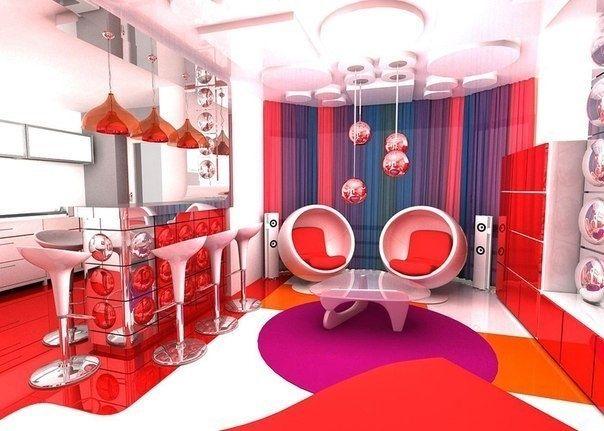 Интерьеры в стиле поп-арт - Дизайн интерьеров | Идеи вашего дома | Lodgers