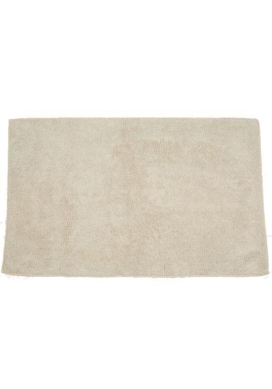 Baderomsmatte 50x80cm sand/grå/burgunder