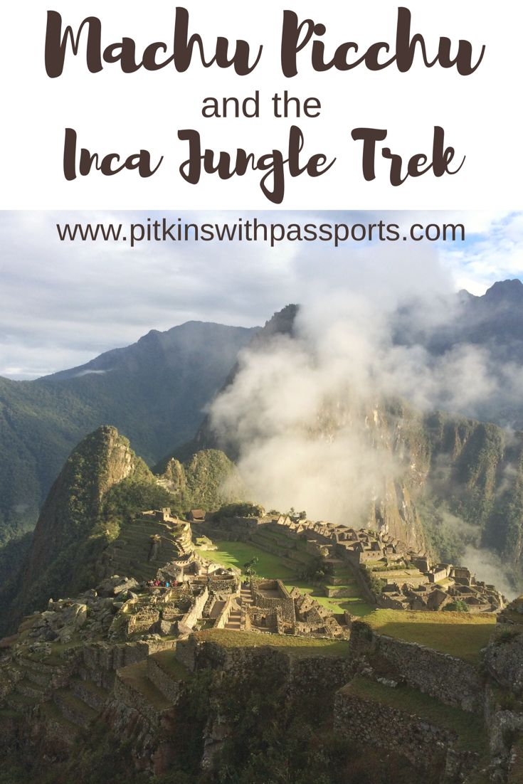 Machu Picchu and the Inca Jungle Trek - we definitely recommend this trip for anybody visiting Peru! The Inca Jungle Trek is a cheaper alternative to the classic Inca Trail and is also really fun. Of course, the incredible Machu Picchu is the highlight of the trek!
