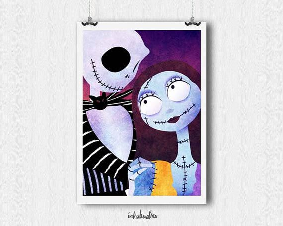 JACK And SALLY From Nightmare Before Christmas By Inkshadow