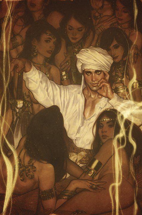 ADam Hughes - cover, Fairest #4 feat  Ali Baba