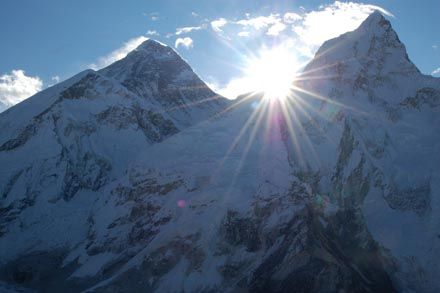 saw the sun rise over Everest copy