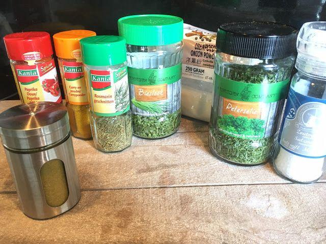 Zelf kruidenzout maken ipv aromat wat vol zit met synthetische kleur-smaakstoffen