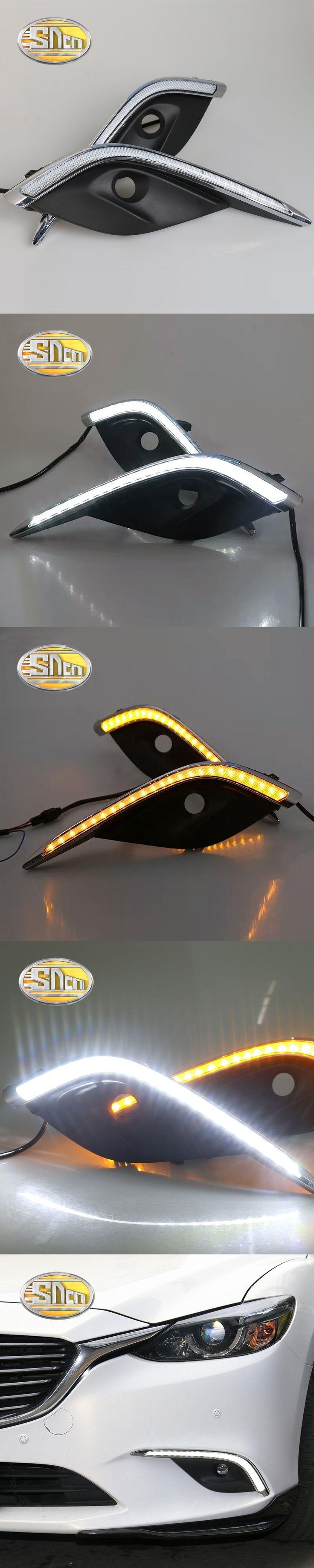 SNCN LED Daytime Running Light For Mazda 6 2016 2017,Car Accessories Waterproof ABS 12V DRL Fog Lamp Decoration