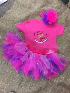 Cheshire Cat Fancy Dress Party Costume Tutu Set by honeybselection