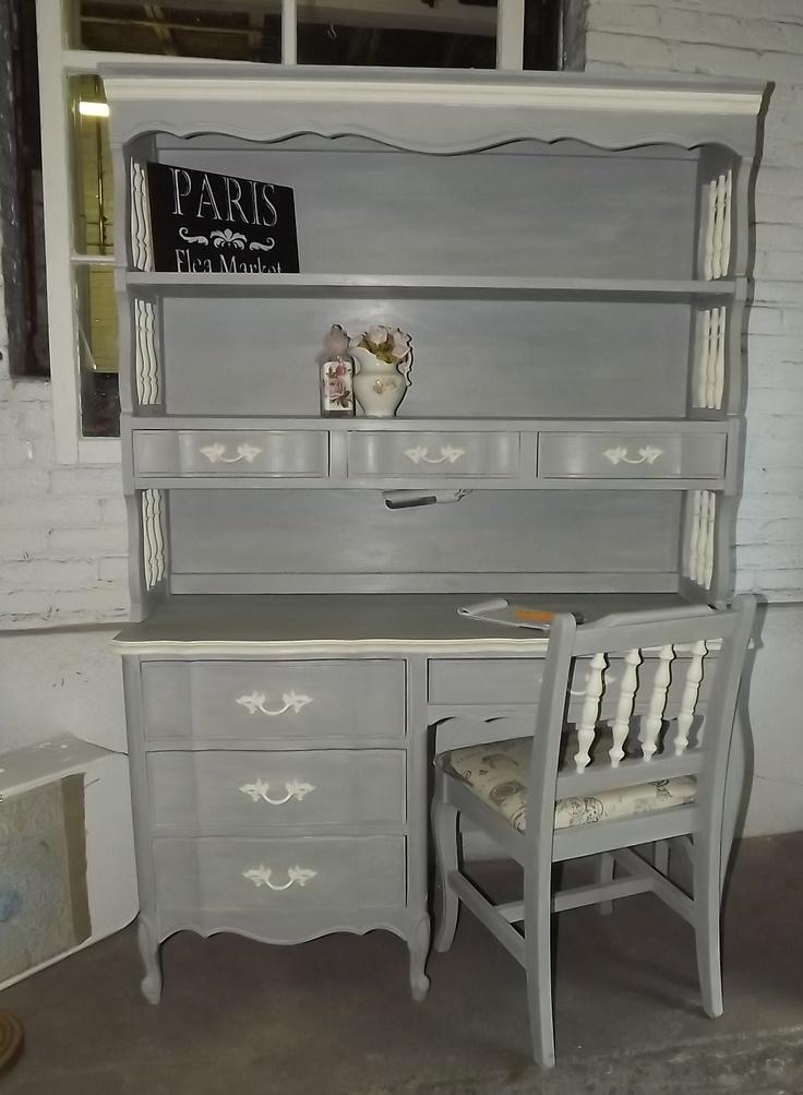 ASCP Paris Grey/Old White vintage desk/hutch. - 307 Best Hutch - Modern & Vintage Images On Pinterest Furniture