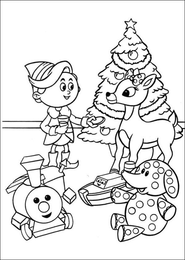 Characters Rudolph The Red Nosed Reindeer Coloring Book