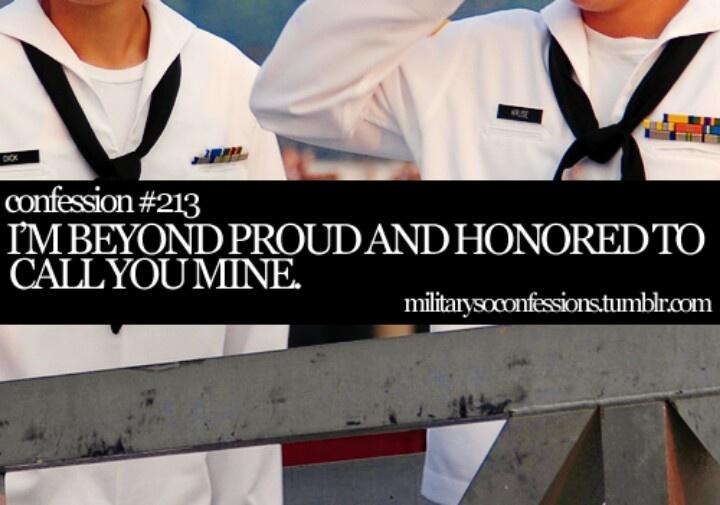 I am a proud Navy Girlfriend! No matter how hard i will stick it through!