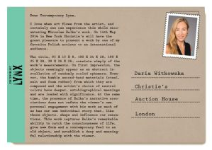 PostcART: Daria Witkowska - Christie's Auction House, Find out more: http://contemporarylynx.co.uk/archives/3257